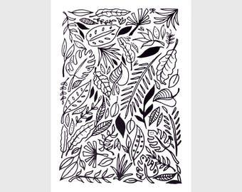 Jungle Leaves - Screenprint