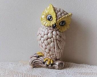 Ceramic Owl Hand Painted Large