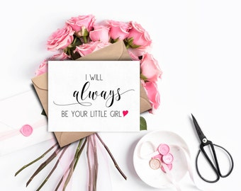 To My Parents On My Wedding Day Card, Father of the Bride Gift, Mother of the Bride Gift, To My Dad Card, Wedding Card to Parents, Mum, Mom