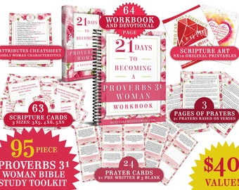 Proverbs 31 woman etsy proverbs 31 woman bible study printable toolkit proverbs 31 devotional and workbook ebook scripture memorization cards prayer cards fandeluxe Choice Image