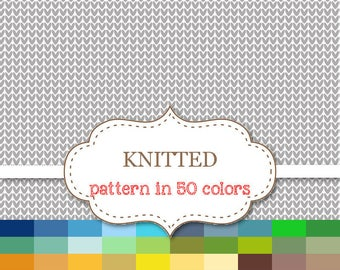 """KNITTED PATTERN Digital paper 50 Color Paper Pack Knitted Digital Paper Knitting paper Yarn Stitches paper Knitted Backgrounds 12""""x12"""" #P158"""