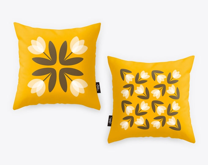Featured listing image: Tulip Luxury Velvet Cushion Cover in Sunshine Yellow