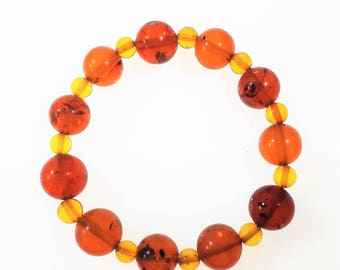 Handmade baltic amber bracelets 6,6g