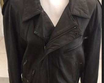 North Beach Leather Motorcycle Jacket Michael Hoban Sz medium 40