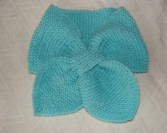DrawString scarf, wool. Handmade.