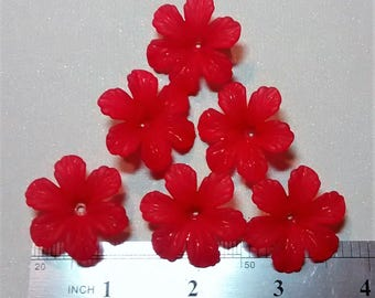 FF-116 Acrylic Red Flowers