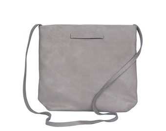 Grey Leather Clutch, Unique Crossbody, Crossbody Clutch, Evening Bags, Grey Clutch, Evening Clutch, Grey Crossbody Clutch - Lucy Clutch
