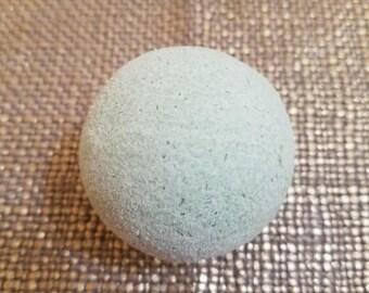 "Spa Day Serenity Bath Fizzy - 4oz, 2.5"" - Bath Bomb Ornament - Heatherhouse Spa - Eucalyptus/Lemongrass Bath Bomb - Moisturizing Bath Fizzy"