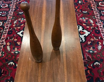 Pair of Antique Indian Clubs by Spalding 1930s Home Decor