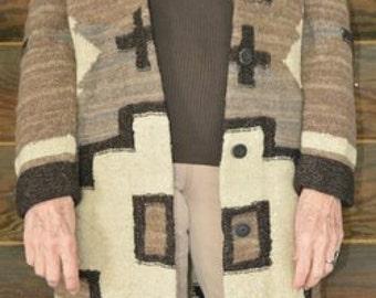 Vintage 1990s RALPH LAUREN Navajo/Native American Cashmere Blend, sweater coat - rare