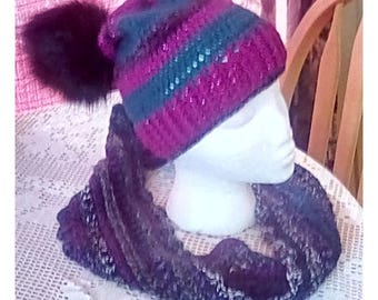 January Pizazz!! Matching Cowl and Hat