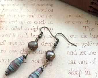 Rose in the Woods - OOAK Earrings