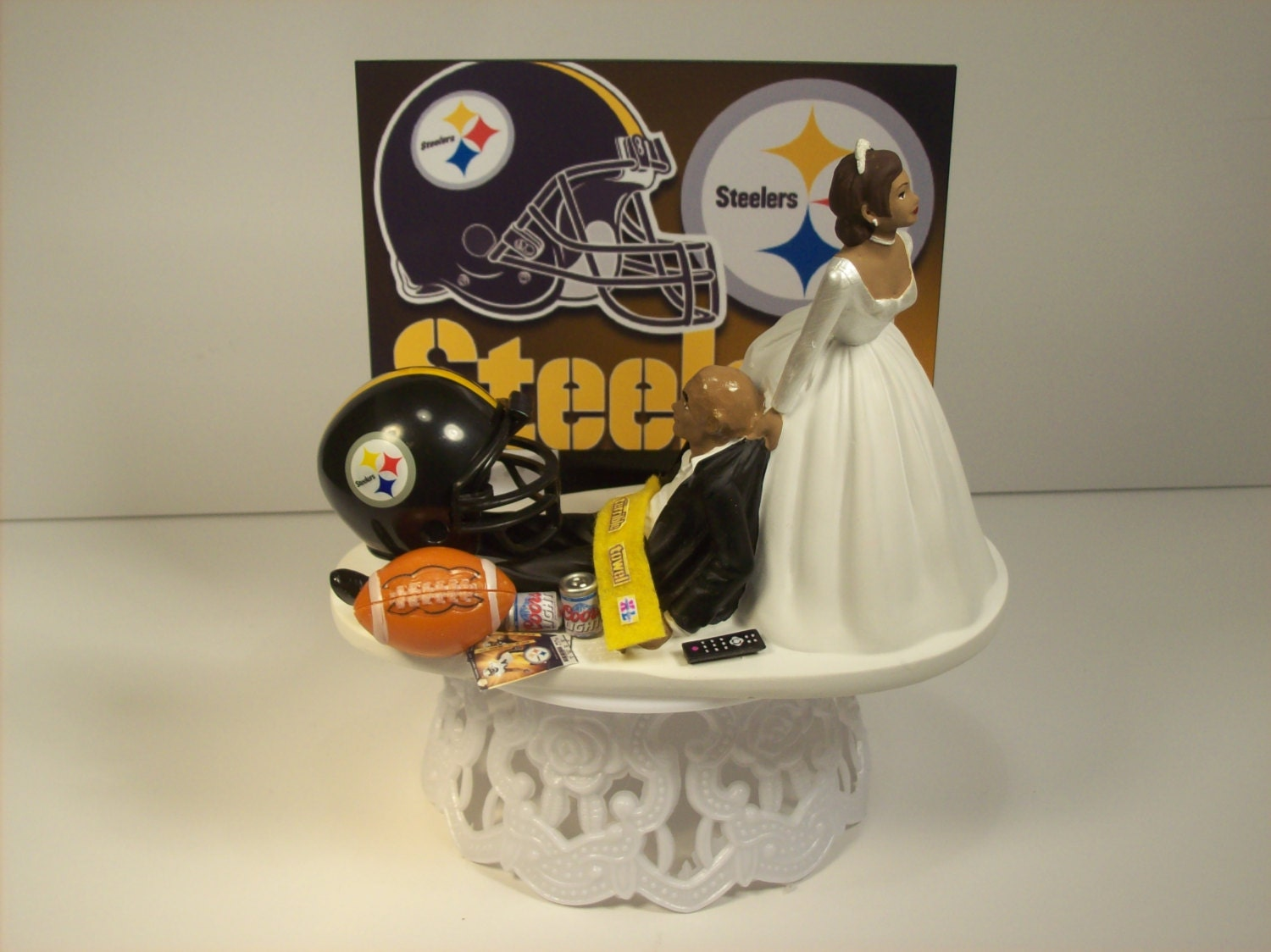 pittsburgh steelers wedding cake topper football pittsburgh steelers american hispanic 18624