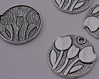 Tulip/Flower Pendant - Set of 5 - #Q102