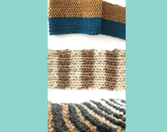 Scarf knitting patterns - 3 choices - knitting patterns - instant download
