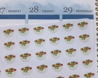 Salad bowl stickers, planner stickers, food stickers, meal stickers, lunch stickers for Erin Condren, Happy Planner, mini Happy Planner, TN