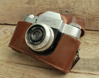 """rare camera / collectible camera / Old Vintage Soviet  Camera """" Zenit - 3M """"  with objective """" Industar - 50 """""""
