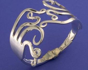 Double Curled Fork Bracelet