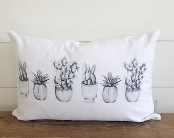 Cactus Sketches Pillow Cover