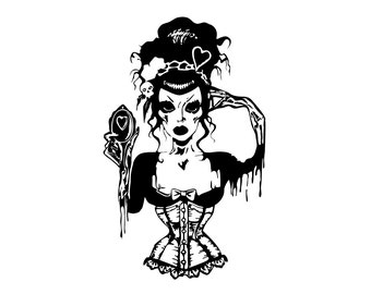 Zombie Girl Decal AB04
