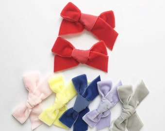 Pigtail Set - LIMITED EDITION Velvet Bows