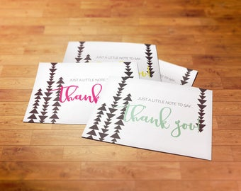 SIX Thank You Cards // 4x6 // Post Card Thank You // Multiple Colors