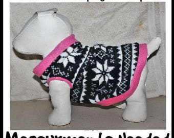 Fleece Sweaters for Dogs & Cats - Custom made to Measurements