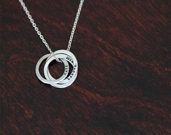 Silver Trinity Necklace (E0337)