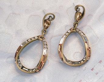 Hoop Earrings, Art Deco Earrings, 1920s Earrings, Art Deco Jewelry, Wedding Earrings, Bridal Earrings, Gift for Her, Bridesmaids E1376