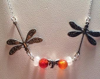 Dragonfly Swarm Necklace