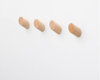 Set of 4 Maple Wall Hooks