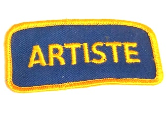Free Shipping! Artiste Fabric Patch