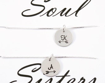 Soul Sisters necklace - BFF necklace for two - Soul sisters gift - Three BFF necklace - Friendship necklace - Soul sisters jewelry -