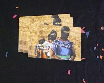 Untitled (zapatistas), Postcard Print