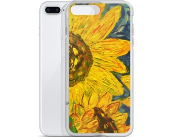 Sunflowers iPhone Case, Sunflowers, Abstract, iPhone Accessories, iPhone Cases, iPhone gifts, sunflower gifts