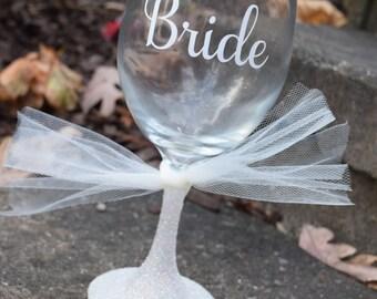 FREE SHIPPING, Bride Wine Glass, Bridal Wine Glass,Bride To Be Wine Glass, Bride, Bride Gift, Bridal Gift, Bridal Shower Gift, Bridal Shower