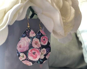 Floral Oval Dangles
