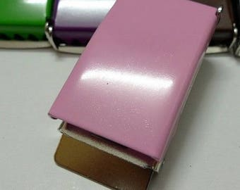 Pink metal buckle 25 mm