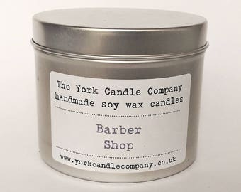 Barber Shop Candle - Soy Wax Candle - Vegan Gifts - Gifts for Men - York Candle Company