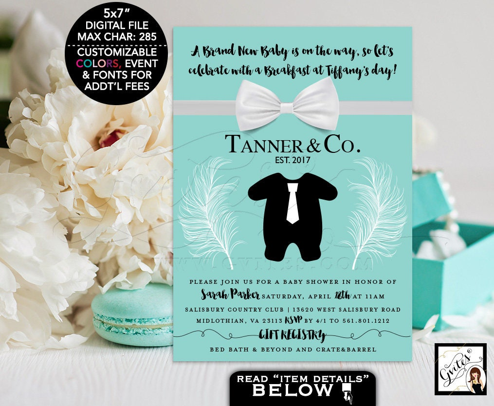 Baby and co baby shower invitation, printables baby and co BOY tux ...