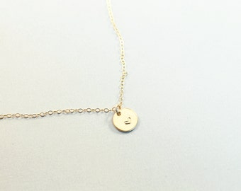 Heart necklace gold filled engraved heart necklace hand stamped heart charm gold filled handmade jewelry love gift