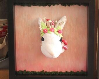 Giant bunny head 3D painting