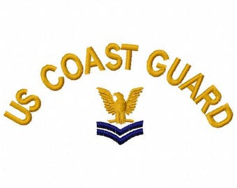 Coast Guard Embroidery Design - Instant Download