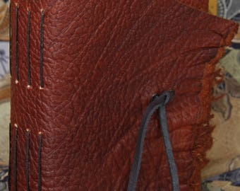 Rustic Brown Textured Leather Multi Signature Blank Page Journal
