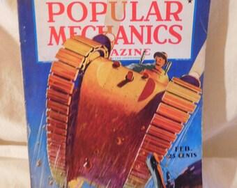Vintage Popular Mechanics Magazine February 1937 Around the World by Air