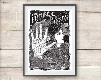 Palmistry Fortune Teller Print