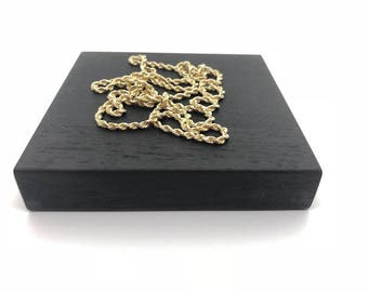 Solid 14kt Gold Rope Chains