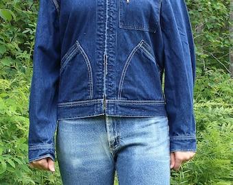 Vintage Lee Denim Jacket; 70's, trucker jacket, vintage Lee Jean Jacket