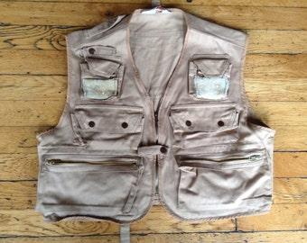 Vintage Catchmaster fishing vest USA XL