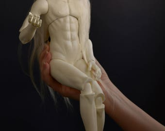 Blank bjd resin man.  Mark mold. Ball jointed doll. BJD male doll. White skin tone, MSD.